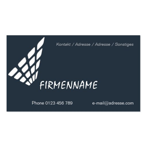 Tile wall business cards