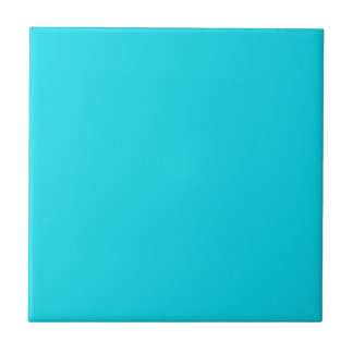 Tile with Bright Neon Teal Blue Background
