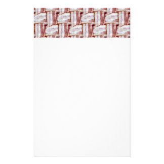 Tiled Bacon Weave Pattern Personalized Stationery