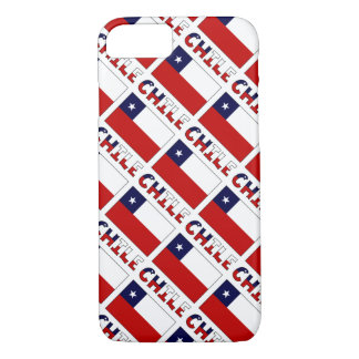 Tiled Chilean Flag and Chile iPhone 7 Case
