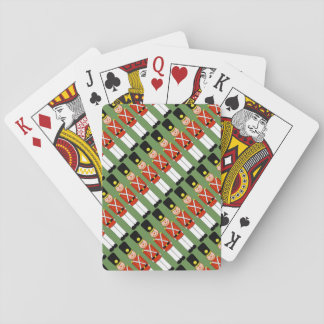 Tiled Christmas Soldiers Playing Cards