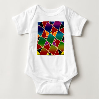 Tiled Colorful Squared Pattern Baby Bodysuit