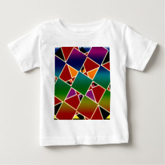 Tiled Colorful Squared Pattern Baby T-Shirt