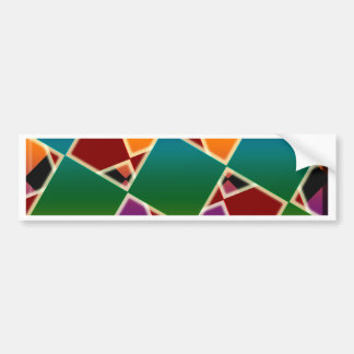 Tiled Colorful Squared Pattern Bumper Sticker