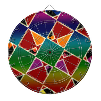 Tiled Colorful Squared Pattern Dartboard