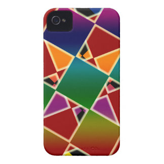 Tiled Colorful Squared Pattern iPhone 4 Covers