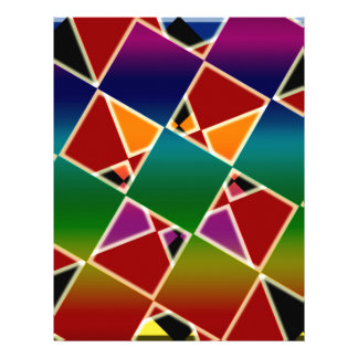 Tiled Colorful Squared Pattern Letterhead
