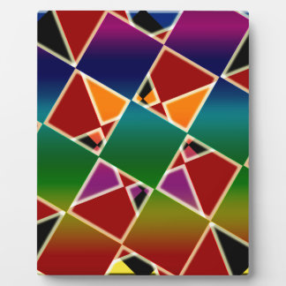 Tiled Colorful Squared Pattern Plaque