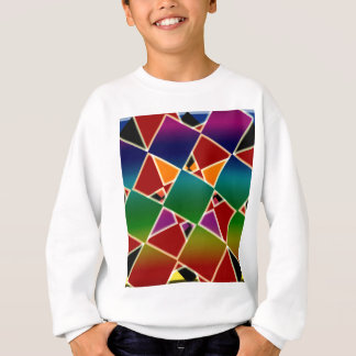 Tiled Colorful Squared Pattern Sweatshirt