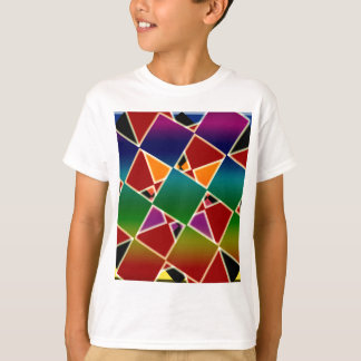 Tiled Colorful Squared Pattern T-Shirt