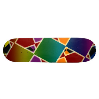 Tiled Colorful Squared Skateboard Deck