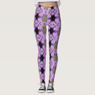 Tiled Crocus Leggings