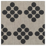 Tiled DarkGrey Dots Fabric