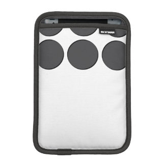 Tiled DarkGrey Dots Sleeve For iPad Mini