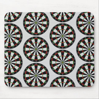 Tiled Darts Target Pattern Mouse Pad