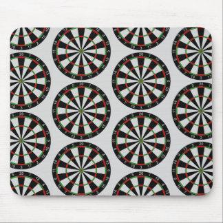 Tiled Darts Target Pattern Mousepad