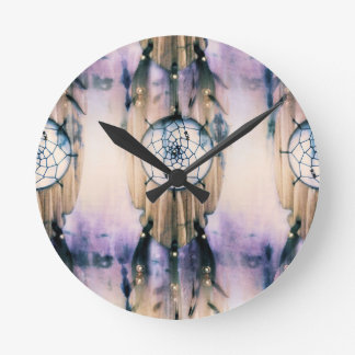 Tiled Dreams Round Clock