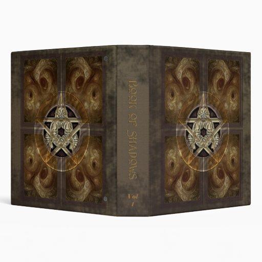 """Tiled Fractal Pentacle Book of Shadows 1.5"""" Binder"""