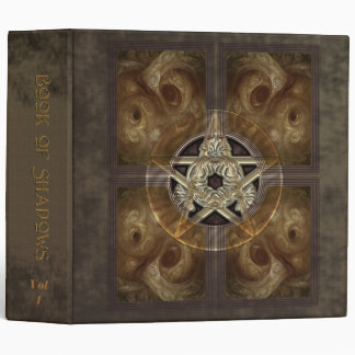 "Tiled Fractal Pentacle Book of Shadows 2"" Binder"
