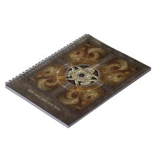 Tiled Fractal Pentacle Spiral Notebook