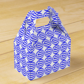 Tiled Greek Flag Sphere Favor Box