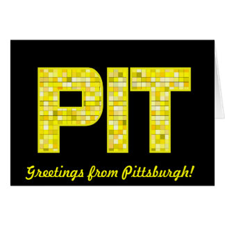 Tiled Greetings from Pittsburgh! Card