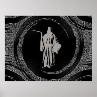 Tiled Grim Reaper Poster
