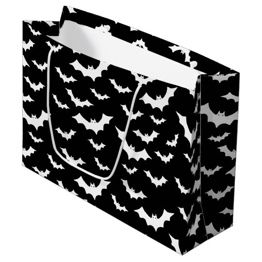 Tiled Halloween bats Holiday party bag