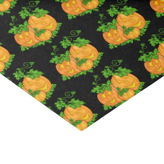 Tiled Halloween Pumpkin tissue paper