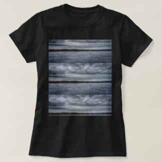 Tiled Moody Grey Sky Print Women's T-shirt
