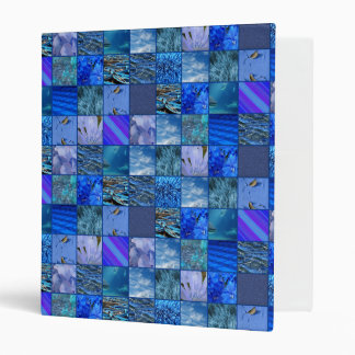 Tiled Mosaic in Blues Photography & Design Pattern 3 Ring Binder