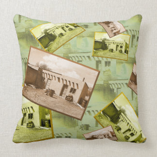Tiled Pattern and Collage Adobe Building Throw Pillow