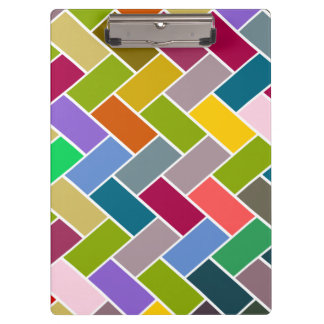 Tiled Pattern Colourful Mosaic Clipboards