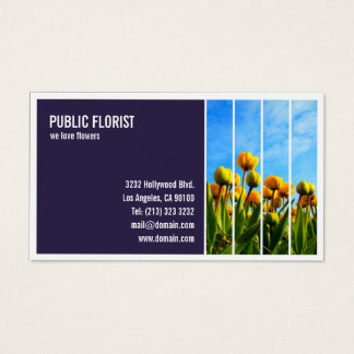 Tiled Photograph Florist Flower Shop Business Card