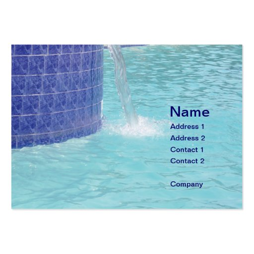 tiled pool fountain business card template