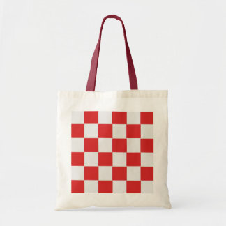Tiled Red and White Woven Pattern