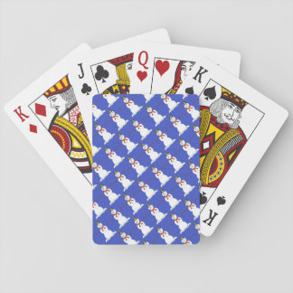 Tiled Snowmen Playing Cards