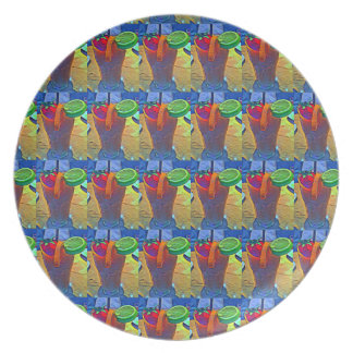 Tiled Tropical Smoothie # 2 Melamine Plate