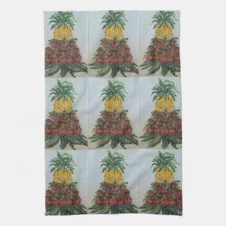 Tiled Williamsburg Apple Tree Kitchen Towel