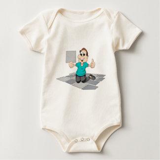 Tiler Repairman Construction Worker kitchen Tiles Baby Bodysuit