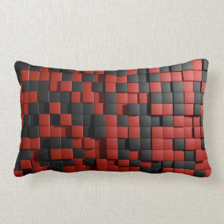 Tiles background lumbar pillow