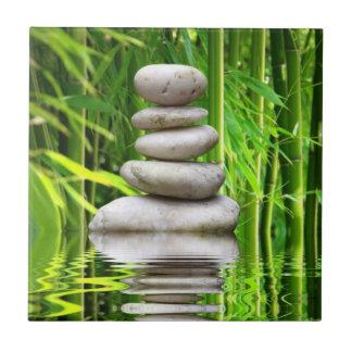 Tiles balance stone pyramid