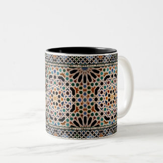 Tiles of the Alhambra Two-Tone Coffee Mug