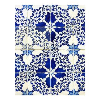 Tiles, Portuguese Tiles Letterhead Template
