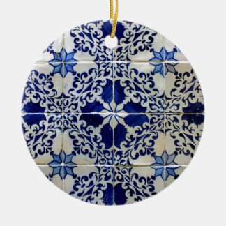 Tiles, Portuguese Tiles Round Ceramic Ornament