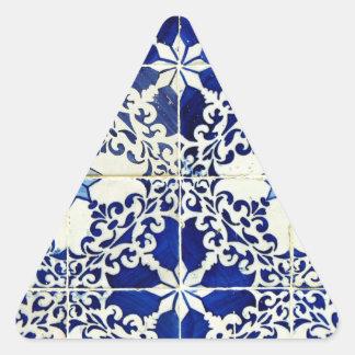 Tiles, Portuguese Tiles Triangle Sticker
