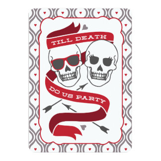 Till Death Do Us Party - Red Wedding Invitation