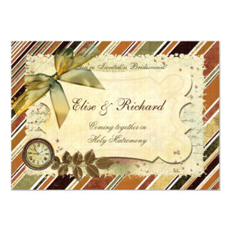 "Till The End of Time Victorian WEDDING 5"" X 7"" Invitation Card"