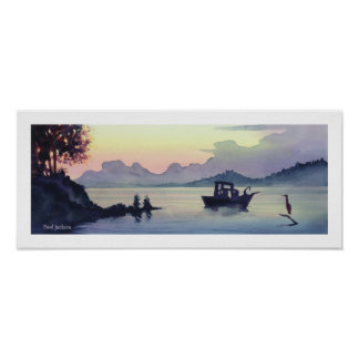 """Tillamook Bend"" Landscape Watercolor Poster"