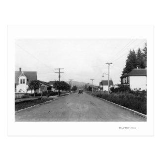 Tillamook, Oregon Residential Street Scene Postcard